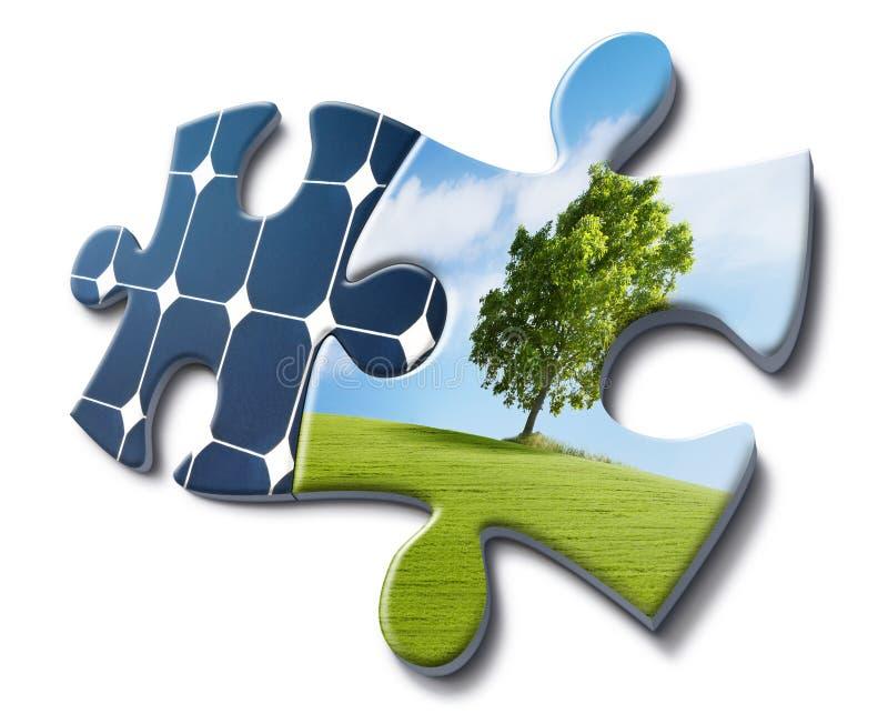 Nature loves solar energy royalty free stock photo