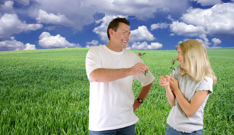 Nature - Man And Girl stock photography
