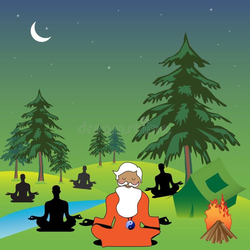 Download Nature meditation stock vector. Illustration of activity - 22199892