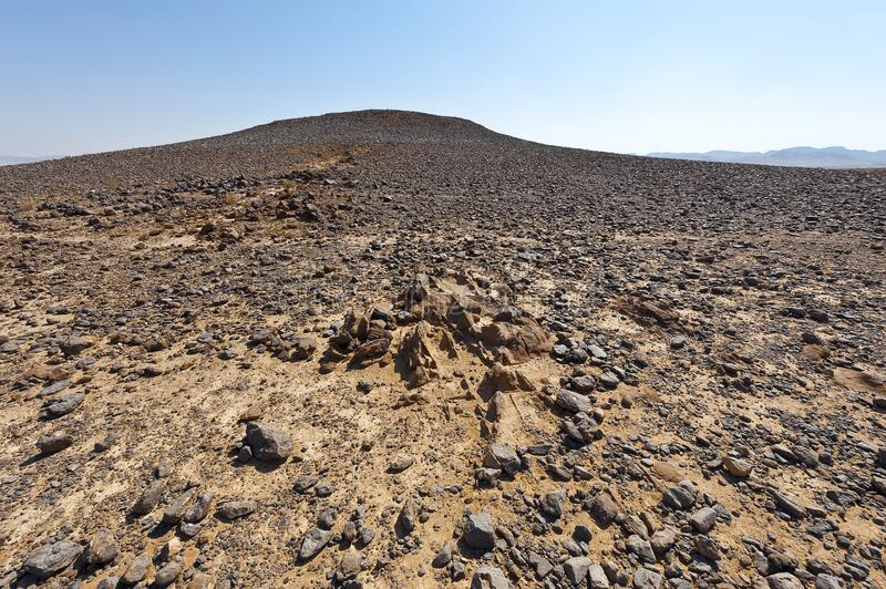 Nature of the Middle East. Rocky hills of the Negev Desert in Israel. Breathtaking landscape and nature of the Middle East stock photos