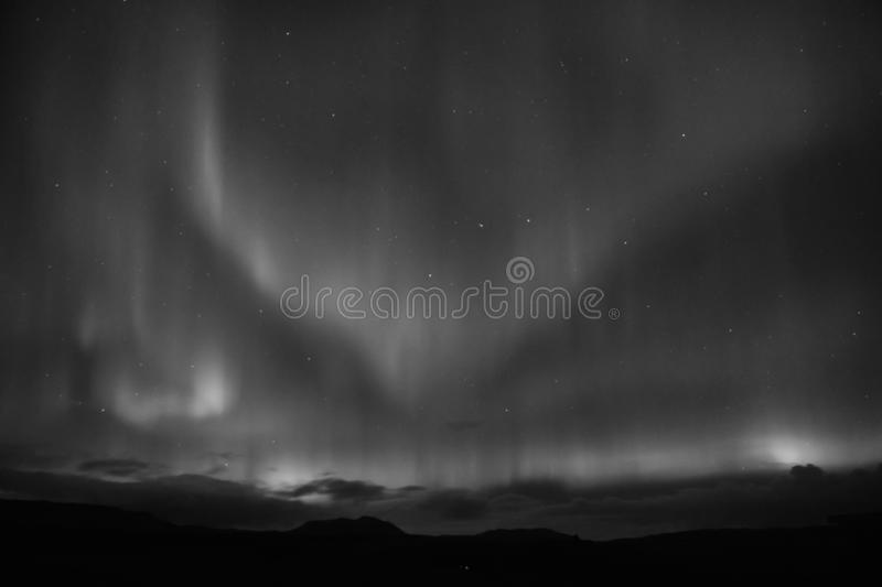 Nature miracles. Aurora dark sky. Amazing nature phenomena. Best place see aurora borealis. When is best time to see. Northern lights. Place to see northern stock photo