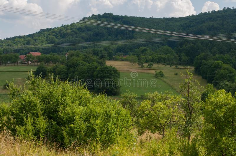 Nature in the mountain. Mountain  roads stock photo