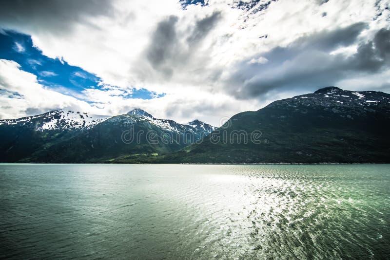 Nature and mountains around skagway alaska royalty free stock photo