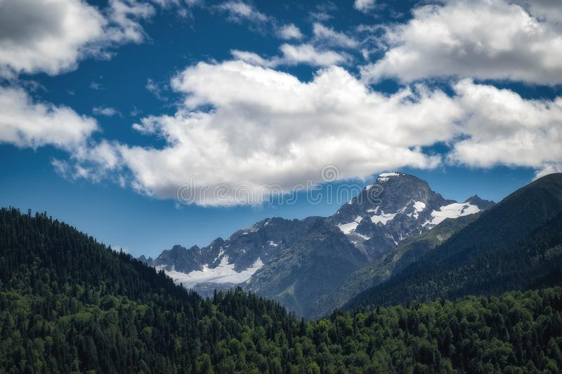 Nature mountains landscape in summer day stock photo