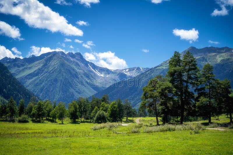 Nature mountains landscape in summer day stock image