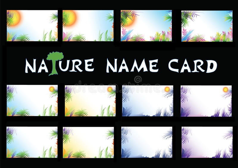 Nature Name Card Royalty Free Stock Photography
