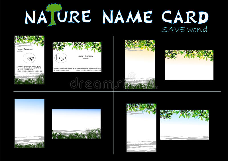 Download Nature name card stock vector. Image of graphic, card - 14619669