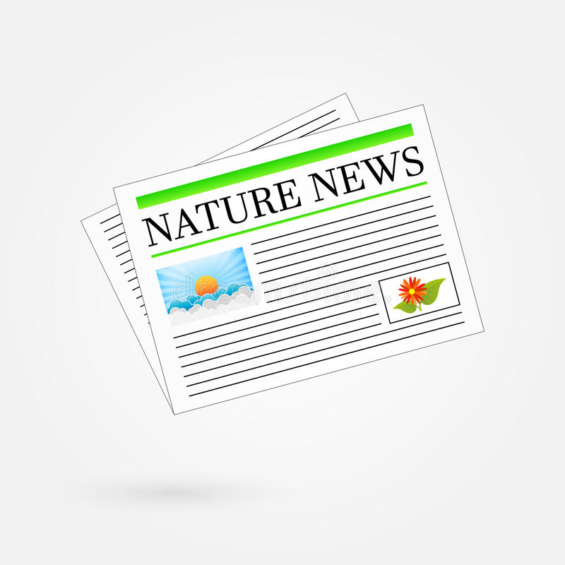 Nature News Newspaper stock images