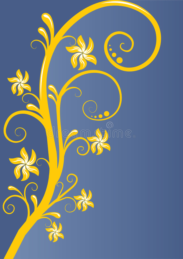 Nature Ornament Card Royalty Free Stock Photo