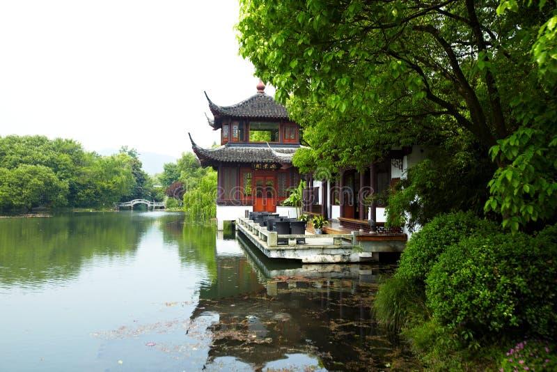 Nature park scenery, Hangzhou. Nature park scenery in spring, Hangzhou, Xihu lake, China, plants and water royalty free stock photo
