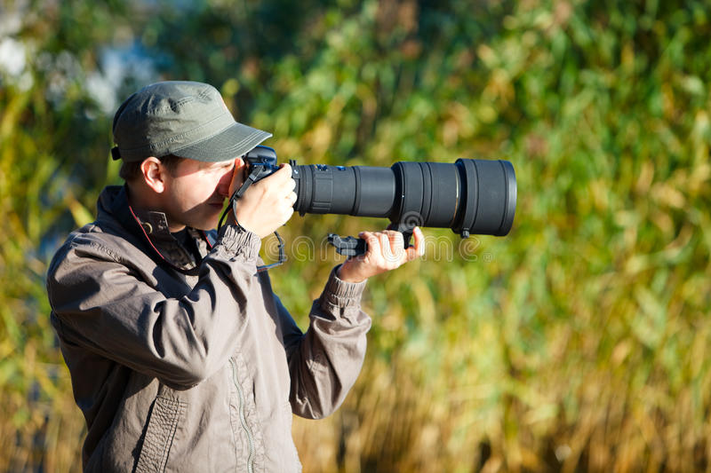 Download Nature photographer stock image. Image of casual, male - 10894093