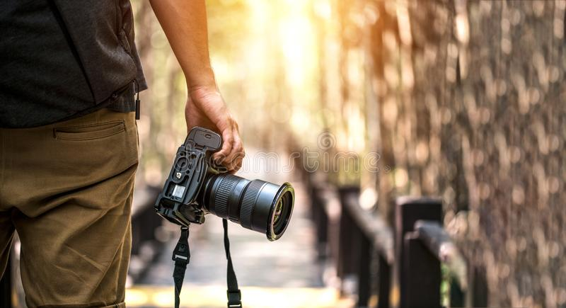 Nature Photography Concepts Professional photographer.  royalty free stock photo