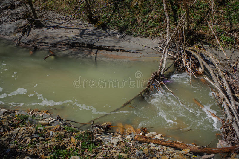 Nature polution. From copper mining stock photography