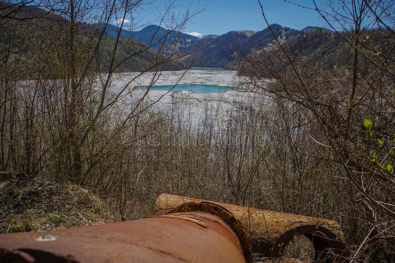 Nature polution. From copper mining royalty free stock photos