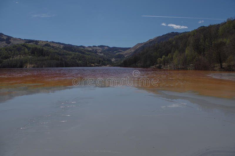 Nature polution. From copper mining royalty free stock photography