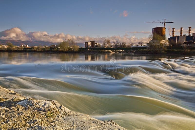 Nature and polution. In zagreb in croatia stock image