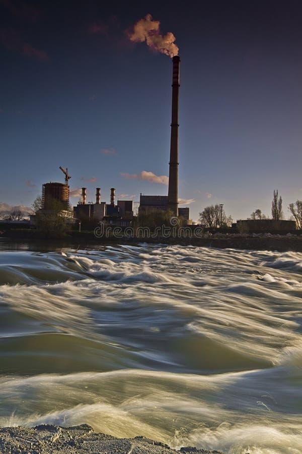Nature and polution. In zagreb in croatia stock photo