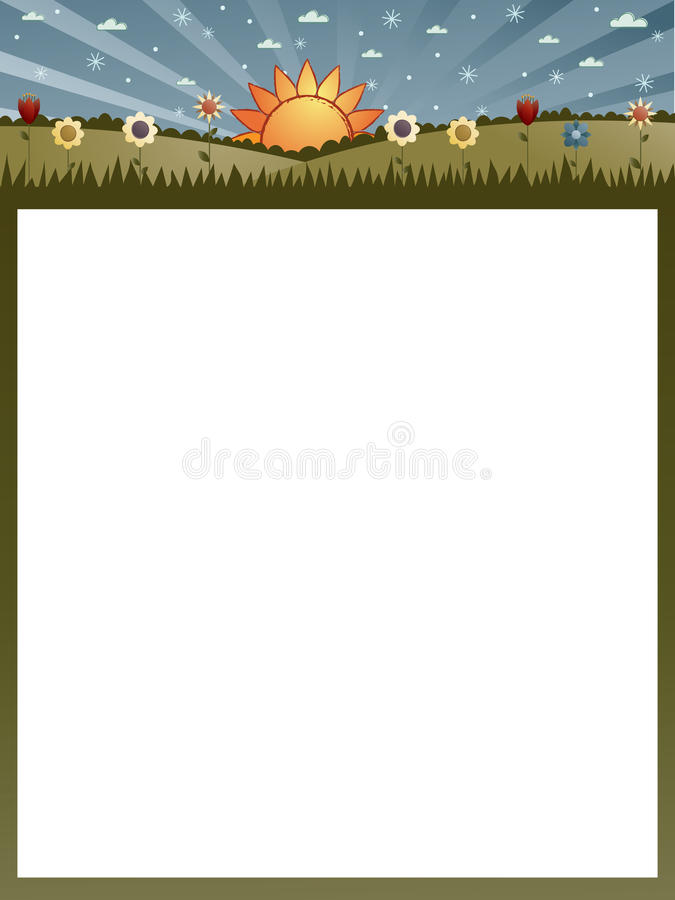 Nature poster royalty free illustration