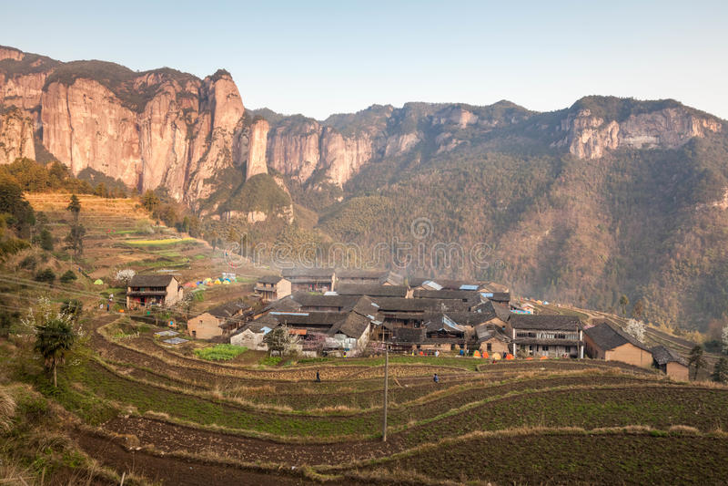 Nature primitive de village de Shenxianju de Chinois photos stock