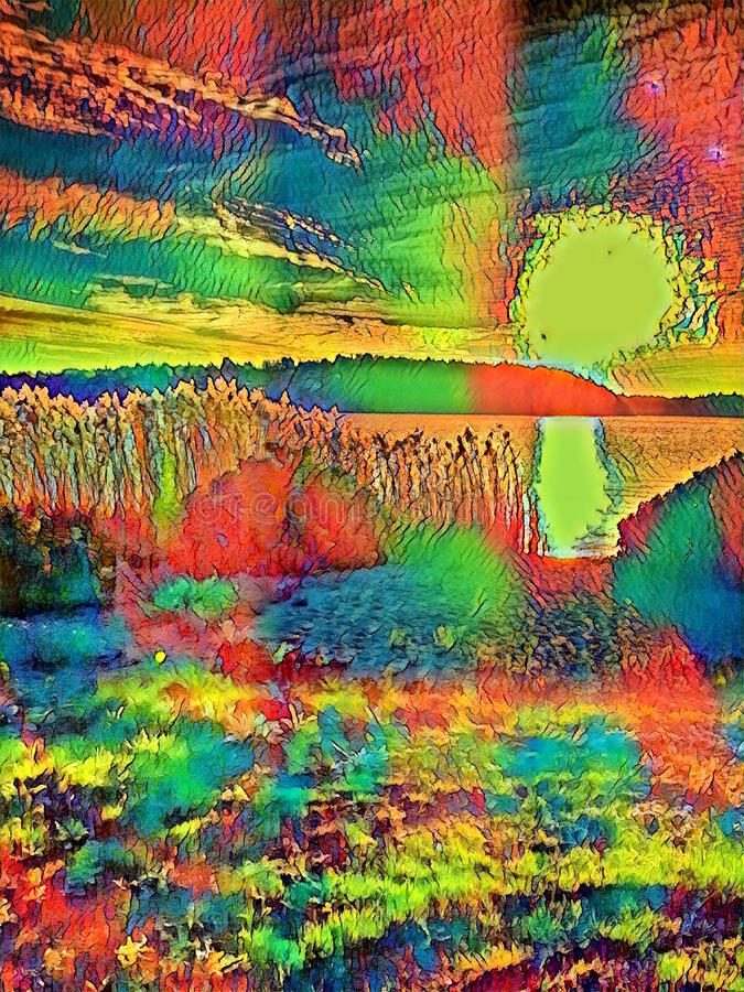 Nature with a psychedelic touch. royalty free illustration