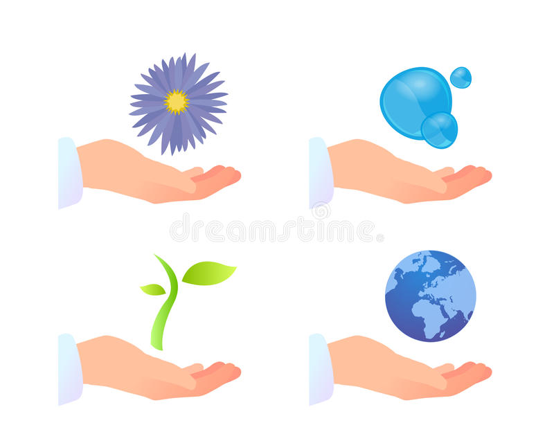Download Nature purity concepts stock vector. Image of keep, care - 10692190