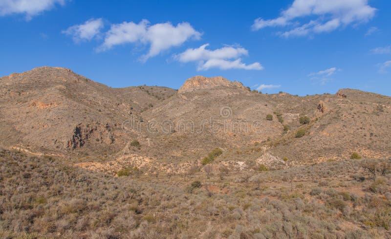 Nature reserve area Landscape southeastern Spain. Cabo Cope y Puntas de Calnegre Nature reserve area Landscape southeastern Spain stock photography