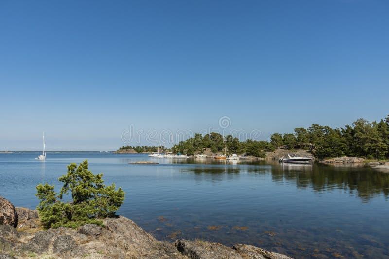 Nature reserve Fjärdlång Stockholm archipelag stock photography