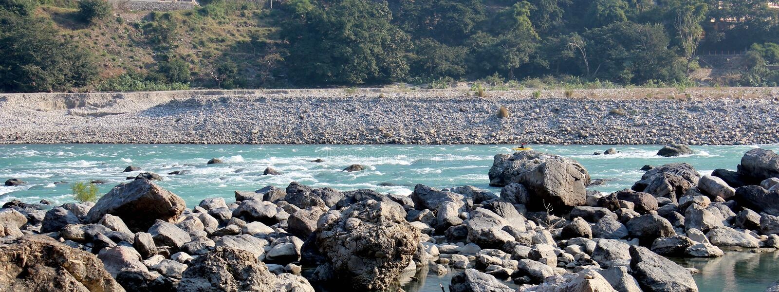 Nature Rishikesh. Rishikesh. Rishikesh, a most tranquil place in northern Uttarakhand, surrounded by hills and bisected by the wide and sluggish Ganges, is often royalty free stock photo