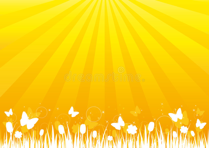 Nature's Silhouette on Golden Background royalty free stock photo