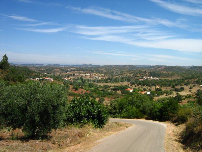 Nature scénique Algarve de vue d'ensemble image libre de droits