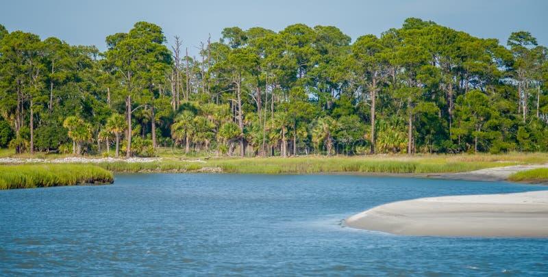 Nature scenes around hunting island south carolina royalty free stock photography