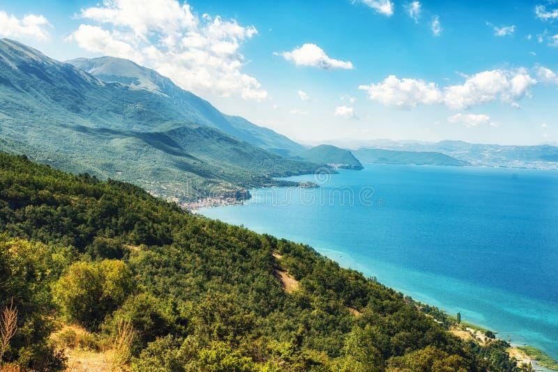 Nature Scenics, lac Ohrid, Macédoine photo stock