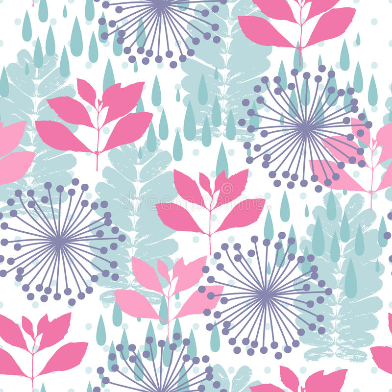 Nature seamless pattern royalty free illustration