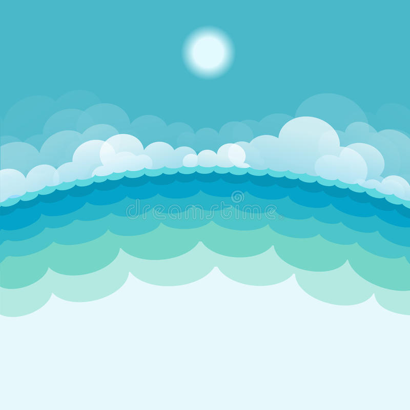 Free NAture Seascape Background With Sea And Sun Royalty Free Stock Images - 32806959