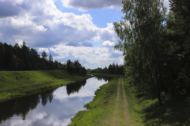 Beautiful Landscapes Of Nature Of Belarus Stock Photo