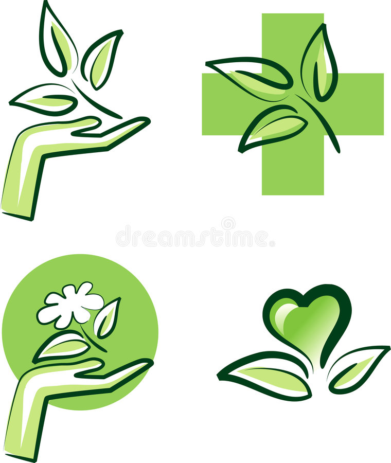 Download Nature signs stock vector. Image of bloom, hand, icon - 8141232