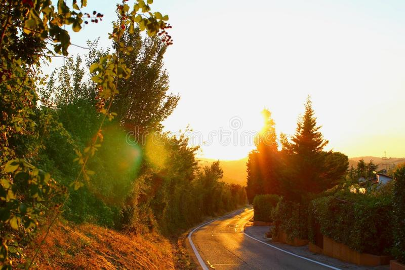 Nature, Sky, Road, Morning royalty free stock image
