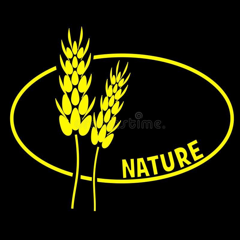 Nature slogan stock image