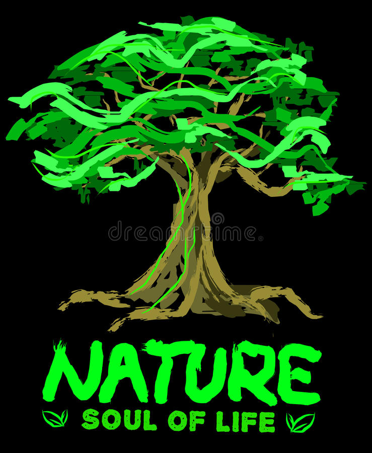 Nature is Soul of Life royalty free stock photography