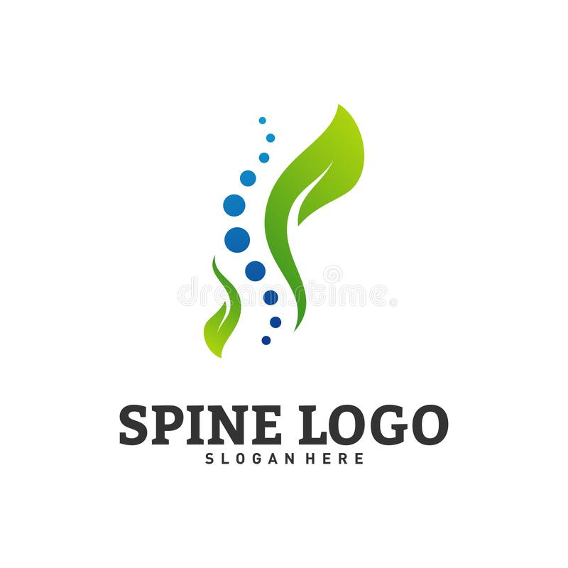 Nature Spine logo design concept vector. Chiropractic logo template. Medical Spine Leaf Logo vector.  vector illustration