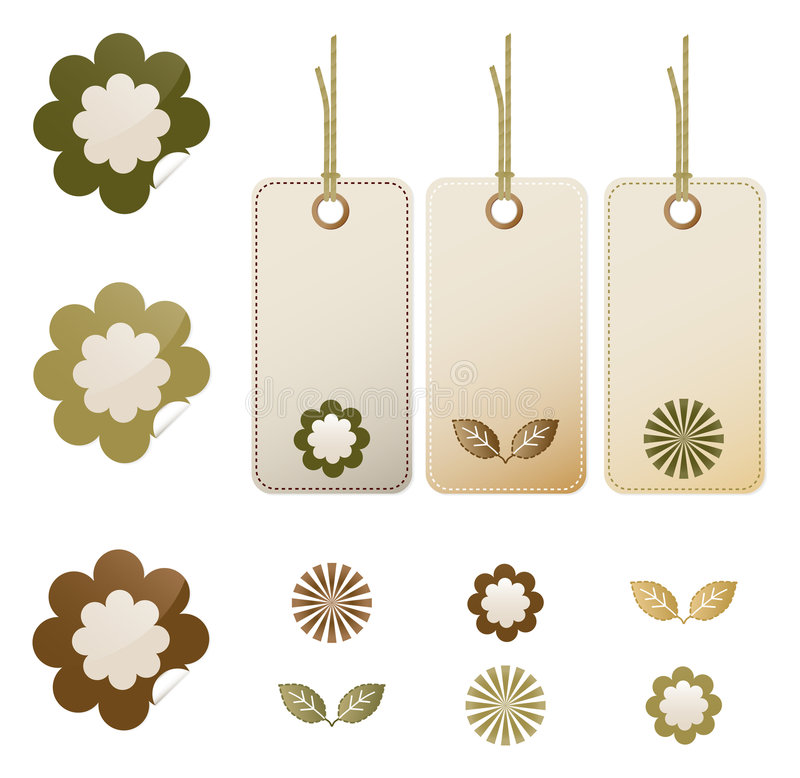 Free Nature Stickers And Tags Stock Image - 4446601