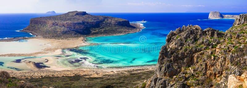 Nature stupéfiante de baie de la Grèce - du Balos en île de Crète photographie stock libre de droits