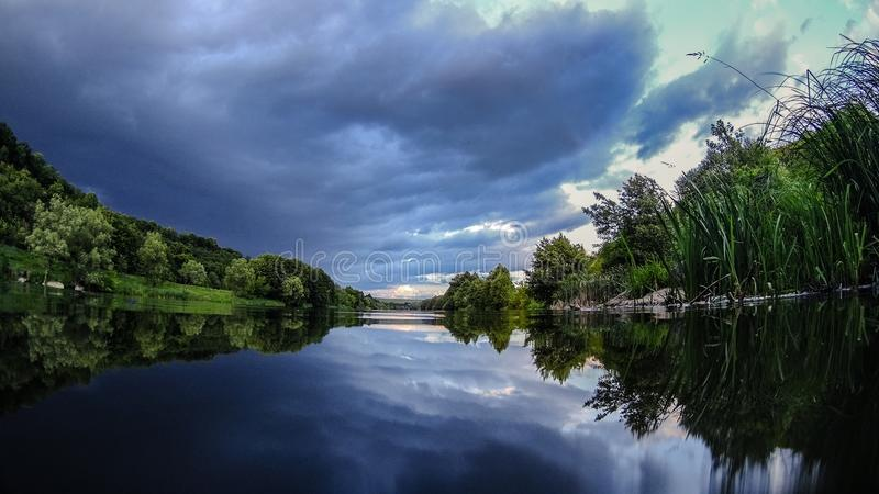 Nature Summer River Landscape royalty free stock photos