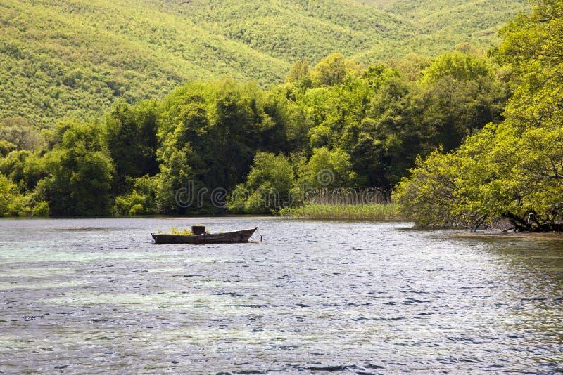 Nature sur le lac Ohrid macedonia image libre de droits