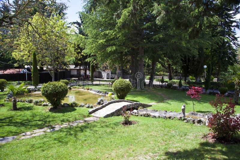 Nature sur le lac Ohrid macedonia photos stock