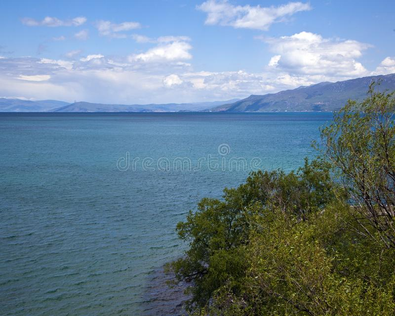 Nature sur le lac Ohrid macedonia images stock