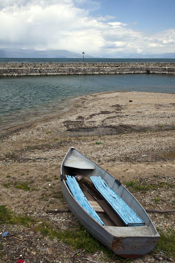 Nature sur le lac Ohrid macedonia photo libre de droits