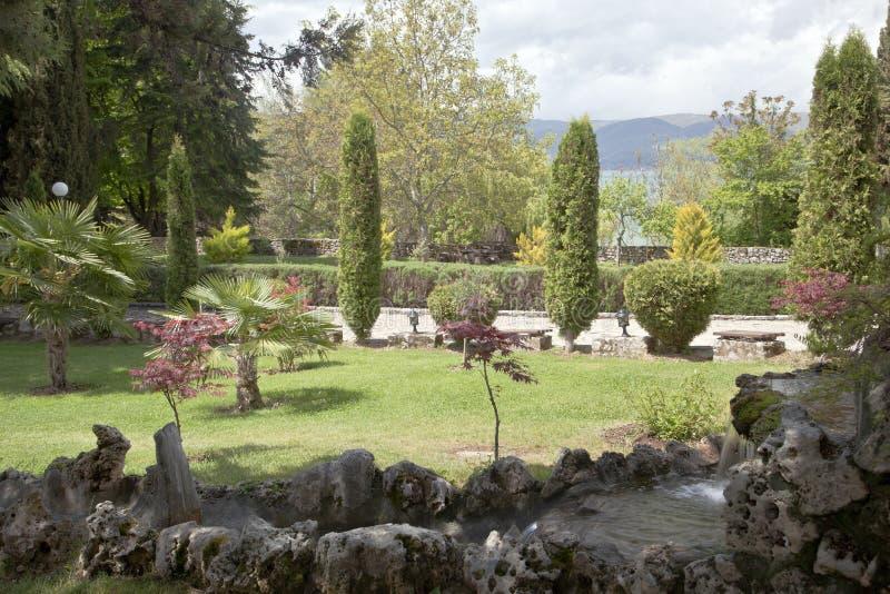 Nature sur le lac Ohrid macedonia photographie stock libre de droits