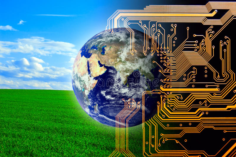 Nature and technology. Concept of future
