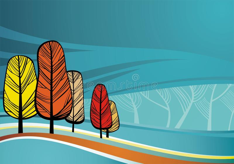 Nature theme background. Vector contains layer system for easy editing vector illustration